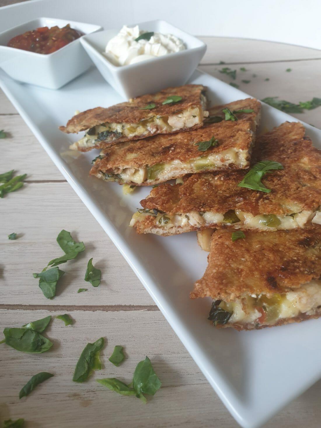Crispy Quesadillas med kylling