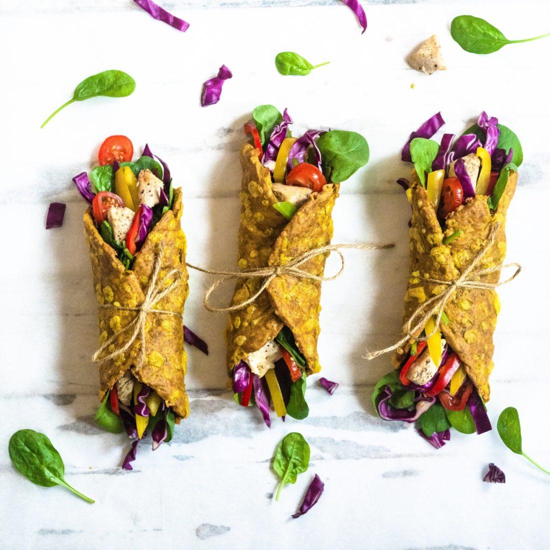 Gule Taco Wrap's på     1 – 2 – 3